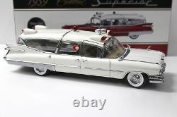 118 Precision Miniatures 1959 Cadillac Superior Crown Royal Ambulance white