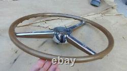 1953 Chrysler Imperial STEERING WHEEL Original New Yorker beige Hub Trim
