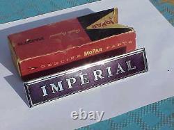 1962 Imperial Crown Le Baron NOS MoPar Grille EMBLEM Nameplate Chryco USA