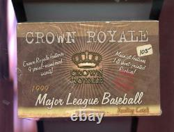 1999 Pacific Crown Royale MLB Major League Baseball Card Set Wax Pack Box Insert
