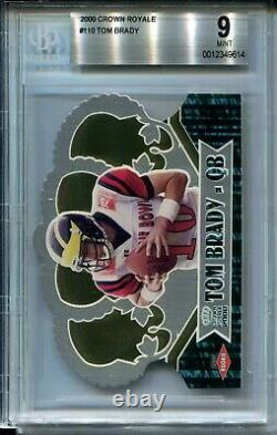 2000 Pacific Crown Royale Football #110 Tom Brady Rookie Card Graded BGS Mint 9
