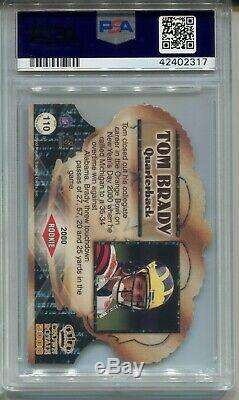 2000 Pacific Crown Royale Football #110 Tom Brady Rookie Card PSA 10