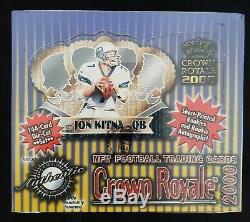 2000 Pacific Crown Royale Sealed Football Box Possible Tom Brady RC PSA 10