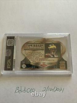 2000 Pacific Crown Royale Tom Brady PSA 7 /499 GOAT 110