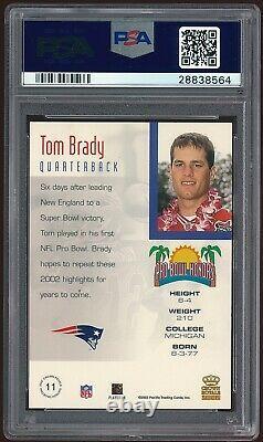 2002 Pacific Crown Royale Tom Brady Pro Bowl Honors #11 PSA 10 Gem Mint