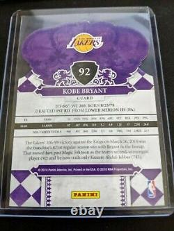 2009-10 Crown Royale Kobe Bryant #92 Die Cut Rare Series Hot Card