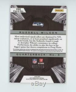 2012 Panini Crown Royal Russell Wilson RC Rookie Auto Patch Jersey /149