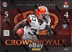 2012 Panini Crown Royale Football Hobby Box Blowout Cards
