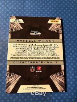 2012 Panini Crown Royale Russell Wilson /349 Jersey Seahawks #280 AUTO Autograph