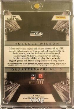 2012 Panini Crown Royale Russell Wilson Auto Autograph Patch Jersey RC Seahawks