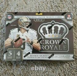2014 Panini Crown Royale Football Hobby Box Factory Sealed New