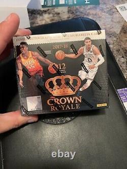 2017-18 Panini Crown Royale Basketball Hobby Box Free Ship