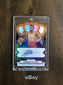 2017-18 Panini Crown Royale Donovan Mitchell Rookie Auto /199 Rc Utah Jazz NBA