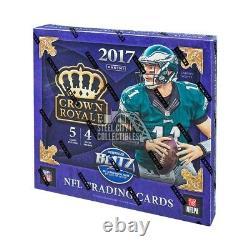 2017 Panini Crown Royale Football 4ct Retail Box