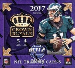 2017 Panini Crown Royale Football Retail Box Blowout Cards