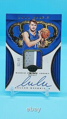 2018-19 Panini Gold Crown Royale Rookie Jersey On Card Auto Luka Doncic 09/25