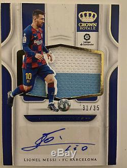 2019-20 Chronicles Crown Royale Lionel Messi Silhouettes Jersey Auto 31/35