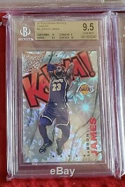 2019-20 Crown Royale Lebron James Kaboom! Bgs 9.5 two 10 subs SSP case hit