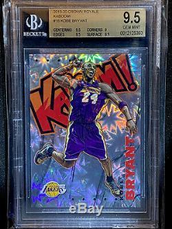 2019-20 Crown Royale Los Angeles Lakers Kobe Bryant Kaboom #16 SSP BGS 9.5