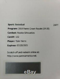 2019-20 Crown Royale TYLER HERRO ROOKIE SILHOUETTES PATCH AUTO