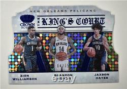 2019-20 Crown Royale The Kings Court Blue #7 Ingram Hayes Zion Williamson /75