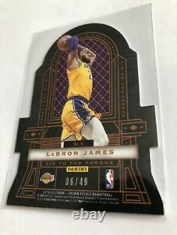 2019-20 Crown Royale Zion Williamson LeBron James Air to the Throne Red 6/49