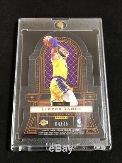 2019-20 Crown Royale Zion Williamson Lebron James Air To The Throne 4/75 Sp