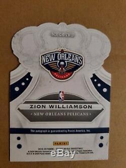2019-20 Crown Royale Zion Williamson RED Auto Autograph /49 Rookie Pelicans