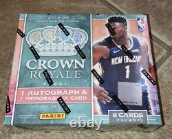 2019-20 NBA Panini Crown Royale Basketball Hobby Box FACTORY SEALED SHIPS FAST