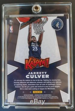 2019-20 NBA Panini Crown Royale Jarrett Culver KABOOM #12 Rookie RC Case Hit