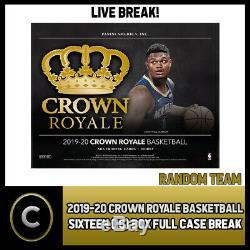 2019-20 Panini Crown Royale 16 Box (full Case) Break #b309 Random Teams