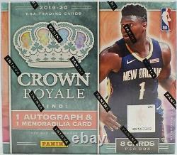 2019-20 Panini Crown Royale Basketball Factory Sealed Hobby Box