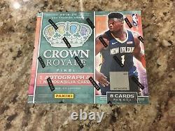 2019-20 Panini Crown Royale Basketball Factory Sealed Hobby Box ZION JA