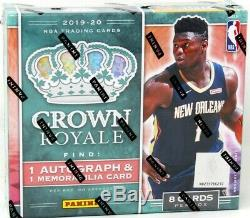 2019/20 Panini Crown Royale Basketball Hobby Box Blowout Cards