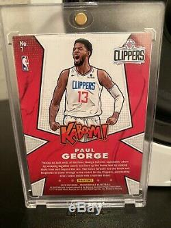 2019-20 Panini Crown Royale Kaboom! #7 Paul George Ssp Los Angeles Clippers