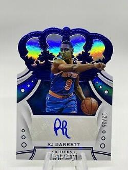 2019-20 Panini Crown Royale RJ Barrett New York Knicks Auto DIE-CUT 12/25