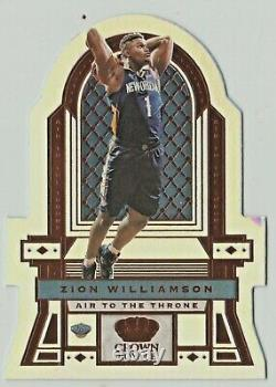 2019-20 Panini Crown Royale ZION WILLIAMSON / LEBRON Rookie Refractor /99 #9