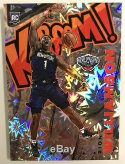 2019-20 Panini Crown Royale Zion Williamson RC Kaboom SP Case Hit Pelicans