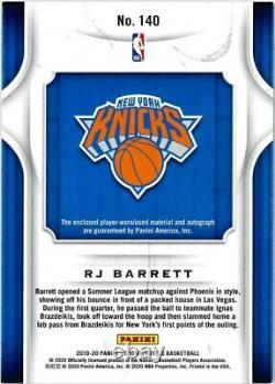 2019-20 RJ Barrett Panini Crown Royale Rookie RC Patch Auto 24/25 Knicks