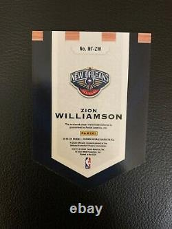 2019-20 Zion Williamson Crown Royale Patch Relic HT-ZW Rookie Card Rc Panini