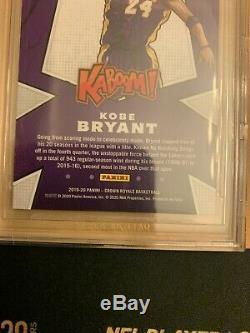 2019 Crown Royale Kaboom Kobe Bryant Black Mamba Los Angeles Lakers BGS 9.5 SSP