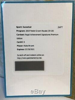2019 Crown Royale Regal Achievement Signature PREMIUM ED #9 KOBE BRYANT AUTO /11