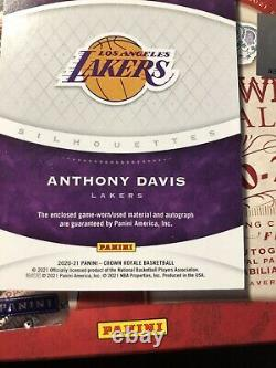 2020-2021 Panini Crown Royale FOTL Anthony Davis Lakers Game Worn Patch Auto 1/1