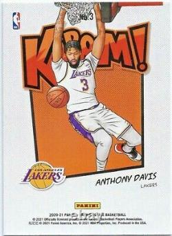 2020-21 Panini Crown Royale Anthony Davis Kaboom! Los Angeles Lakers SSP
