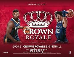 2020 21 Panini Crown Royale Basketball HOBBY BOX 2 Hits FACTORY SEALED