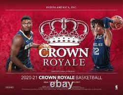 2020-21 Panini Crown Royale Basketball Hobby Box Factory Sealed