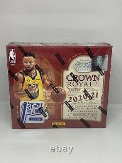 2020-21 Panini Crown Royale FOTL 1st Off The Line Basketball Hobby Box IN HAND