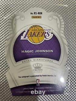 2020-21 Panini Crown Royale Magic Johnson FOTL On Card Auto /17 LA Lakers