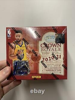 2020-21 Panini Crown Royale NBA Basketball 1st FOTL Hobby Box Kaboom