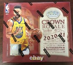 2020-21 Panini Crown Royale Nba Basketball Hobby Box Sealed New